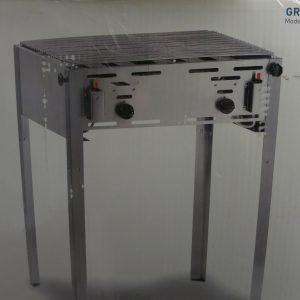 edelstahl-gasgrill-grill-master-maxi-verchromter-rost-emaillierte-bratpfanne-mit-gasschlauch-und-druckregler